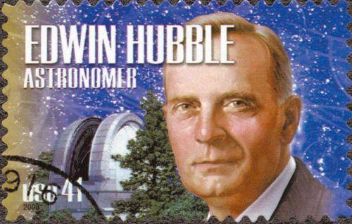 Памятная почтовая марка в честь Эдвина Хаббла