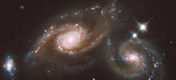 Скопление трех галактик Triplet ARP 274