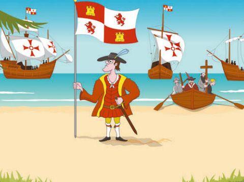 Христофор Колумб высаживается в Америке