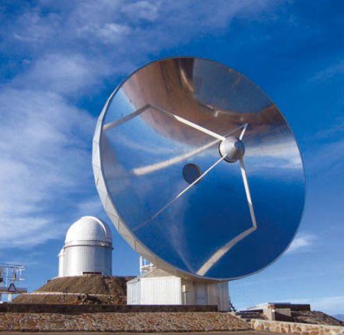 Один из телескопов Европейской южной обсерватории в Чили