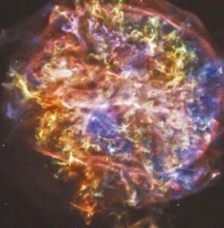 Остаток сверхновой звезды Тихо (Браге). Снимок сделан рентгеновским космическим телескопом «Чандра»