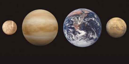 Меркурия, Венеры, Земли и Марса