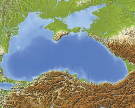 из космоса Черное море