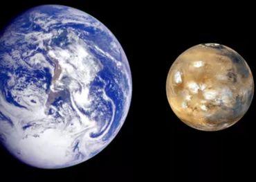 Марс и Земля