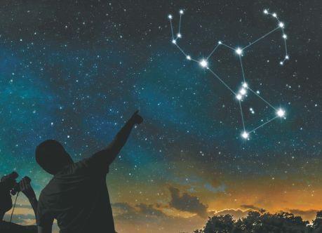Созвездие Ориона на звездном небе