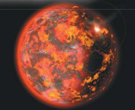 Земля около 4 миллиардов лет назад